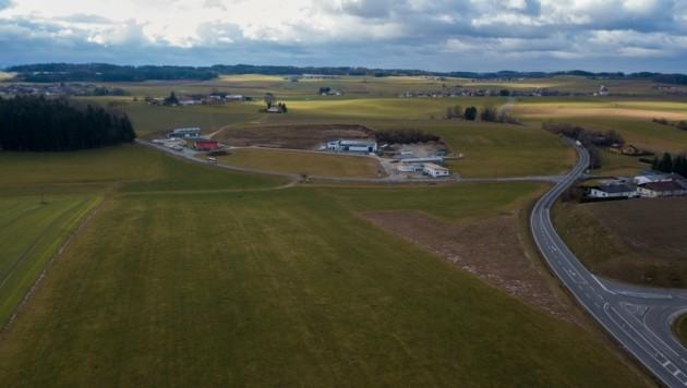 Der Plan für eine Futtertrocknungsanlage in Feldkirchen bei Mattighofen sorgt für Debatten. (Bild: Daniel Scharinger)