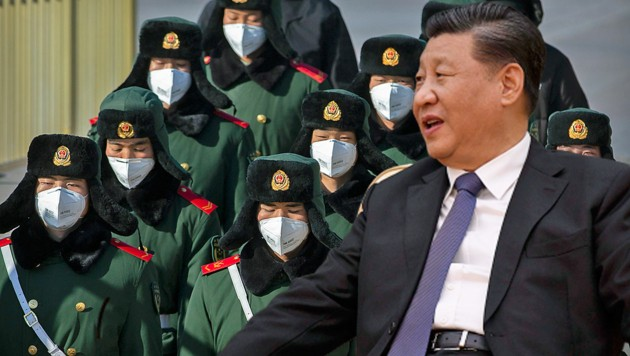 Präsident Xi Jinping hat ein Jahr der Demütigungen hinter sich. Nun muss seine Regierung auch noch gegen das Coronavirus kämpfen. (Bild: AP, AFP, krone.at-Grafik)