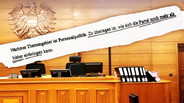 Im Polit-Schaukampf auf dem Rücken der Justiz wurde ein heikler Aktenvermerk aus dem Jahr 1997 in Umlauf gebracht. (Bild: Kerstin Wassermann, zVg, krone.at-Grafik)