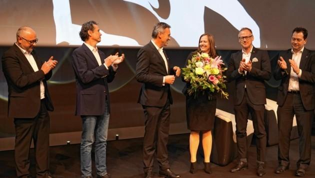 Sturm-Präsident Christian Jauk holte Susanne Gorny in den schwarzen Vorstand. (Bild: Pail Sepp)