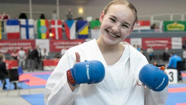 Hanna Devigili darf nach EM-Gold in der Kadettenklasse 2019 in Dänemark jetzt über Bronze in der Junioren-Klasse in Budapest (Ung) jubeln. (Bild: Maurice Shourot)