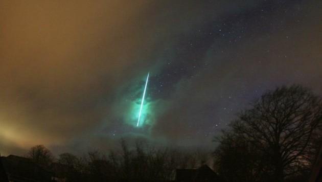 Etwa diese Farbe soll der Meteor vom Freitag gehabt haben. (Bild: AKM)