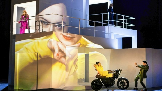 """Annika Haller (Bühne) schuf für """"Don Giovanni"""" ein mehrstöckiges Haus als variantenreichen Ort des Geschehens. (Bild: Werner Kmetitsch)"""
