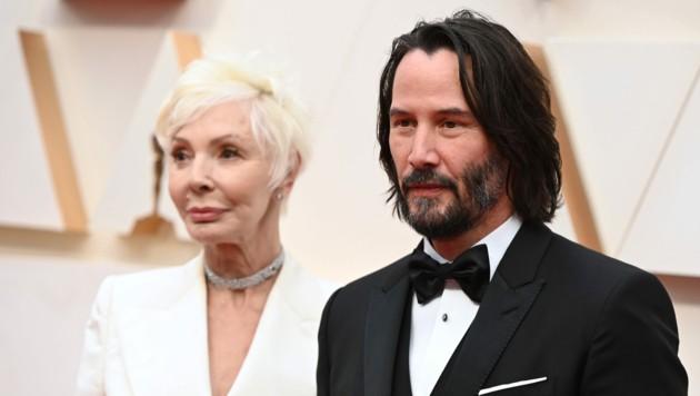 Keanu Reeves und seine Mutter Patricia Taylor (Bild: AFP)