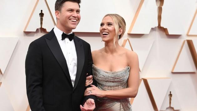 Scarlett Johansson brachte ihren Verlobten Colin Jost mit auf den roten Teppich. (Bild: 2020 Invision)