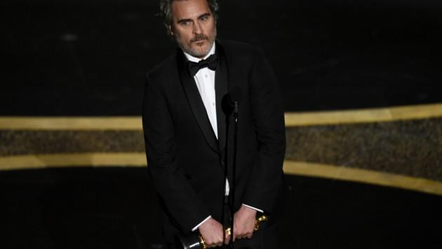 """Joaquin Phoenix wurde für seine Rolle in """"Joker"""" als bester Hauptdarsteller ausgezeichnet. (Bild: Chris Pizzello/Invision/AP)"""