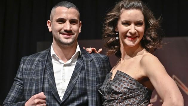 Boxer Marcos Nader und Tänzerin Alexandra Scheriau (Bild: APA/HERBERT NEUBAUER)