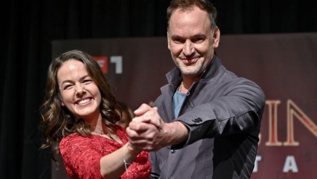 Schauspieler Christian Dolezal und Tänzerin Roswitha Wieland (Bild: APA/HERBERT NEUBAUER)