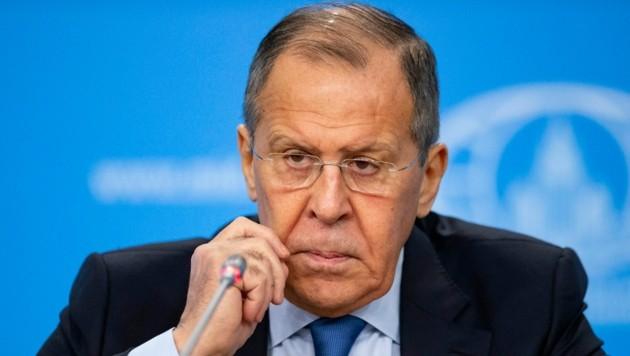 Der russische Außenminister Sergej Lawrow. (Bild: AP)