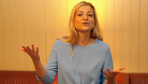 Barbara Teiber von der GPA-djp will mehr Steuerbeiträge von Vermögenden. (Bild: Martin Jöchl)