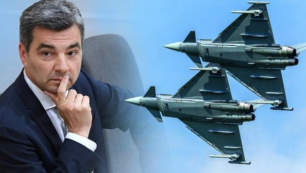 """Wolfgang Peschorn, Präsident der Finanzprokuratur, hatte sich zuletzt für eine """"Wiedergutmachung für die Steuerzahler"""" in der Causa Eurofighter eingesetzt. (Bild: HBF/Daniel Trippolt, APA/HELMUT FOHRINGER, krone.at-Grafik)"""