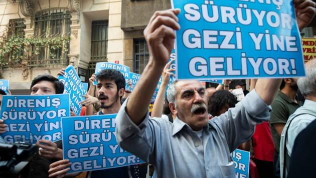 Bei den sogenannten Gezi-Protesten demonstrierten Aktivisten 2013 gegen die Politik des türkischen Staatspräsidenten Recep Tayyip Erdogan. (Bild: AFP)