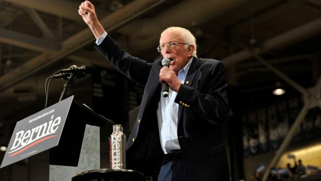 Bernie Sanders liegt bei landesweiten Umfragen erstmals in Führung unter den demokratischen Präsidentschaftsbewerbern. (Bild: AFP)