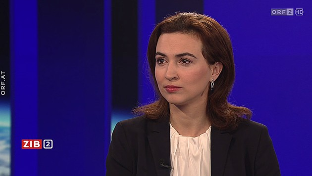 """Justizministerin Alma Zadic (Grüne) in der """"ZiB"""" (Bild: ORF)"""