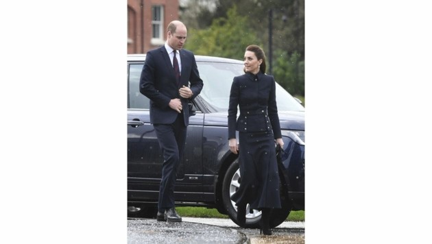 Prinz William, Herzogin Kate (Bild: APA/Joe Giddens/PA via AP)