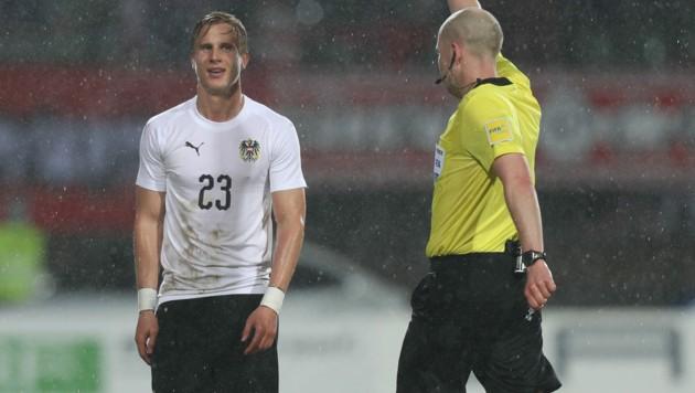 Moritz Bauer im ÖFB-Teamdress beim Ländermatch gegen Luxemburg 2018 (Bild: GEPA)