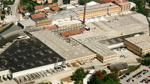 Luftaufnahme des Werkes in Wilhelmsburg (Bild: www.laufen.co.at)