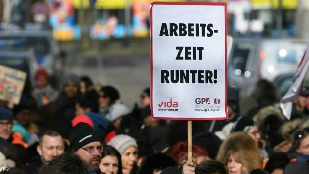 Warnstreiks (Bild: APA/HELMUT FOHRINGER)