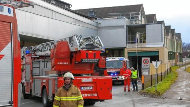 Salzburg, Brand in Oberndorf bei der Firma Ablinger Alarmstufe 3 (Bild: Markus Tschepp)