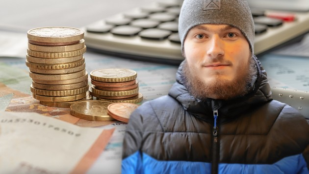 Bitterarm nach Erbe: Jürgen M. (23) (Bild: Zwefo, stock.adobe.com, krone.at-Grafik)