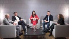 Von links: Stefan Petzner, Peter Westenthaler, Katia Wagner, Maximilian Krauss, Doris Vettermann (Bild: krone.tv)