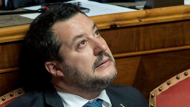 Matteo Salvini war im September 2019 mit seiner Partei aus der Regierung in Rom ausgeschieden. (Bild: AP)