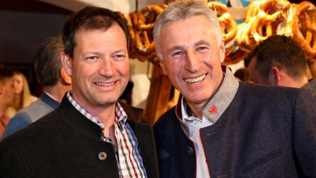 Leonhard Stock und Stephan Eberharter (Bild: GEPA pictures)