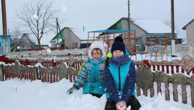 Aktuell spielen die Kinder im verschneiten Weißrussland.  (Bild: Bert Bauer)