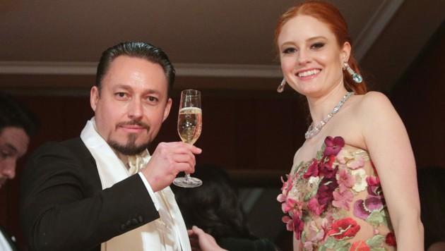 Unternehmer Klemens Hallmann mit Ehefrau Barbara Meier (Bild: APA/GEORG HOCHMUTH)