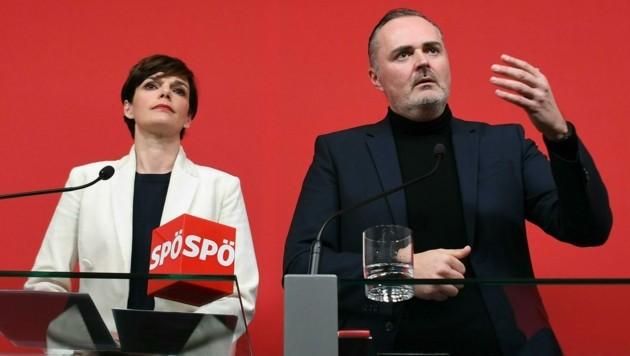 SPÖ-Chefin Pamela Rendi-Wagner und der burgenländische Landeshauptmann Hans Peter Doskozil (SPÖ) (Bild: APA/HELMUT FOHRINGER)