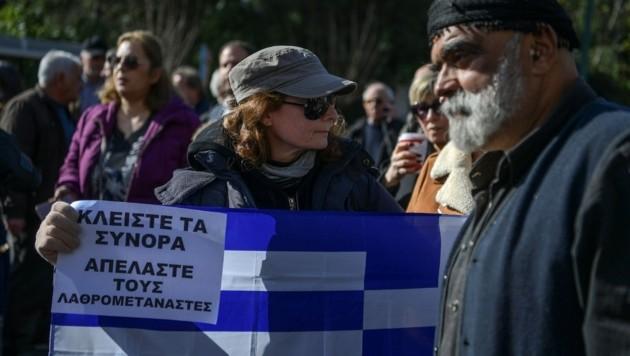 Die Proteste in Athen richteten sich gegen den Bau von neuen Flüchtlingslagern auf den Ägäisinseln Lesbos, Chios, Samos, Leros und Kos. (Bild: AFP)