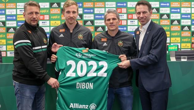 Zoran Barisic, Christopher Dibon, Dietmar Kühbauer und Christoph Peschek (von li. nach re.) (Bild: GEPA )
