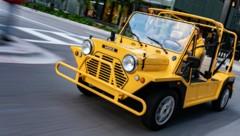 Der Mini Moke erfreut sich in Miami großer Beliebtheit. (Bild: BMW)