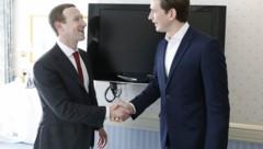 Am Rande der Münchner Sicherheitskonferenz traf Kanzler Kurz Facebook-Chef Zuckerberg. (Bild: Bundeskanzleramt/Dragan Tatic)