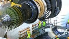 Der Wasserstoff soll in Mellach diese Großturbine antreiben (Bild: Verbund)
