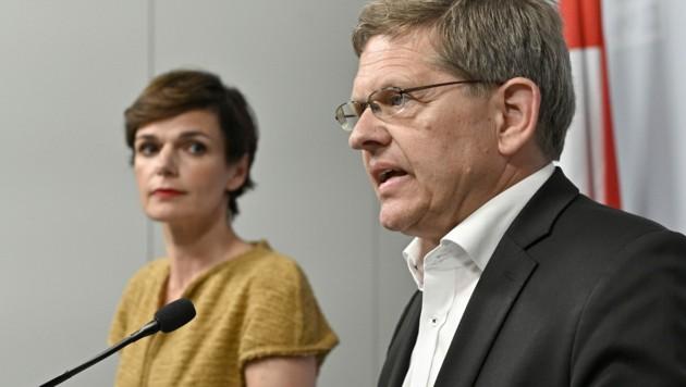 Pamela Rendi-Wagner und Christian Deutsch (Bild: APA/HANS PUNZ)