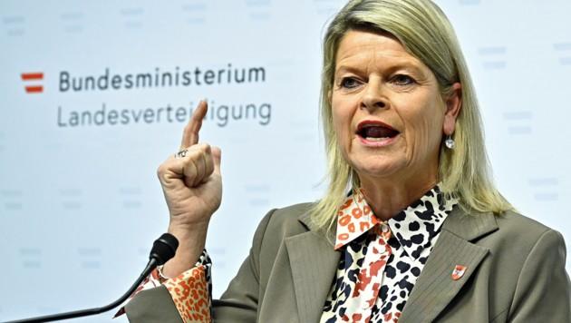 Verteidigungsministerin Klaudia Tanner (Bild: APA/Hans Punz)