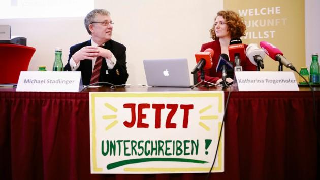 Michael Stadlinger und Katharina Rogenhofer (Bild: Inés Bacher)