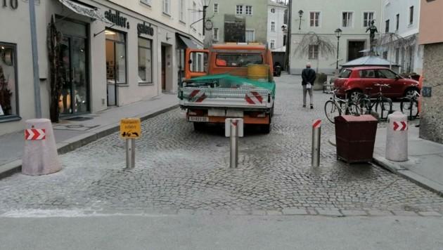 Poller am Papagenoplatz in der Stadt Salzburg (Bild: Stadt Salzburg)
