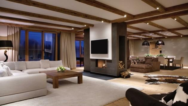 520 Quadratmeter groß ist die Penthouse-Suite im Kempinski in Jochberg (Bild: Kempinski Hotel Das Tirol)