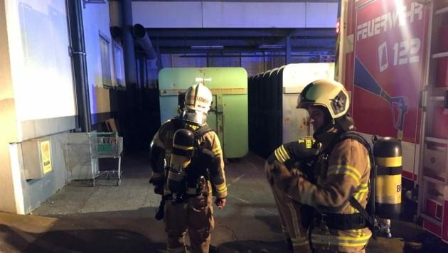 Auch der Atemschutztrupp war im Einsatz. (Bild: Berufsfeuerwehr Linz)