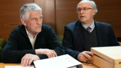Walter Mayer und sein Anwalt Hans-Moritz Pott (Bild: APA/EXPA/JOHANN GRODER)