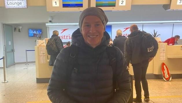 Andi Goldberger am Salzburger Flughafen (Bild: Nikolaus Pichler)