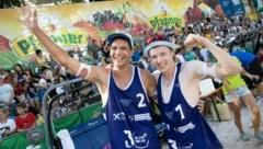 Der Wolfurter Simon Baldauf (li.) und sein Dornbirner Partner Jakob Reiter (re.) wollen auch in dieser Saison wieder jubeln. (Bild: Maurice Shourot)