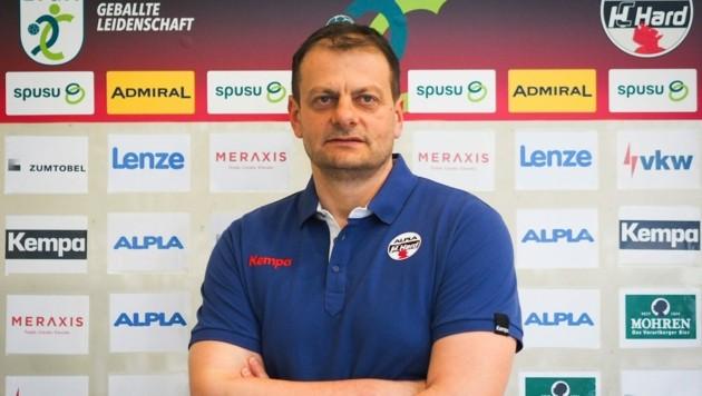 Mario Bjelis holte in der Saison 2013 als Spieler mit Hard den Meistertitel. (Bild: HC Hard)