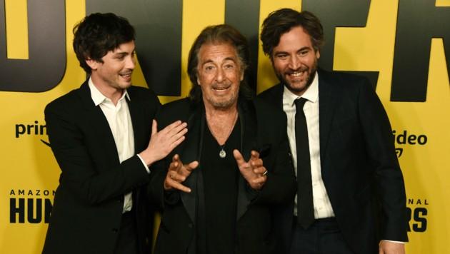 Logan Lerman, Al Pacino und Josh Radnor (Bild: Chris Pizzello/Invision/AP)
