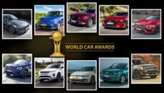 (Bild: Hyundai, Kia, Mazda, Mercedes, Range Rover, VW, World Car Awards, krone.at-Grafik)