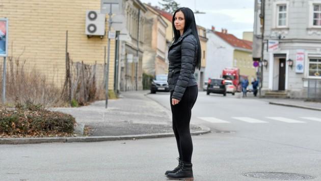 Hier in Linz-Kleinmünchen wurde Angelina S. (35) überfallen, der Täter flüchtete ohne Beute. (Bild: © Harald Dostal)