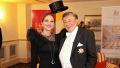 """Richard Lugner mit seine """"Bella Ornella"""" im Grand Hotel in Wien (Bild: Tomschi Peter)"""