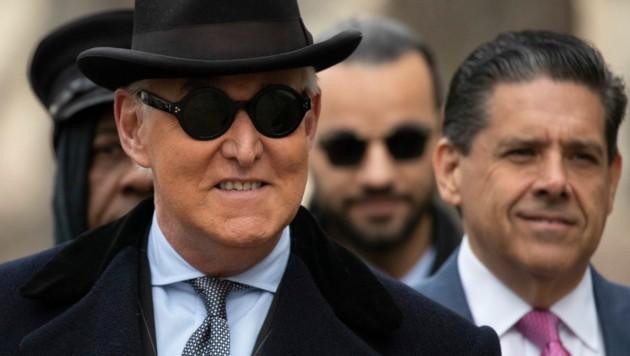 """Roger Stone wurde dafür verurteilt, in der """"Russland-Affäre"""" den Kongress belogen und einen Zeugen unter Druck gesetzt zu haben. (Bild: The Associated Press)"""